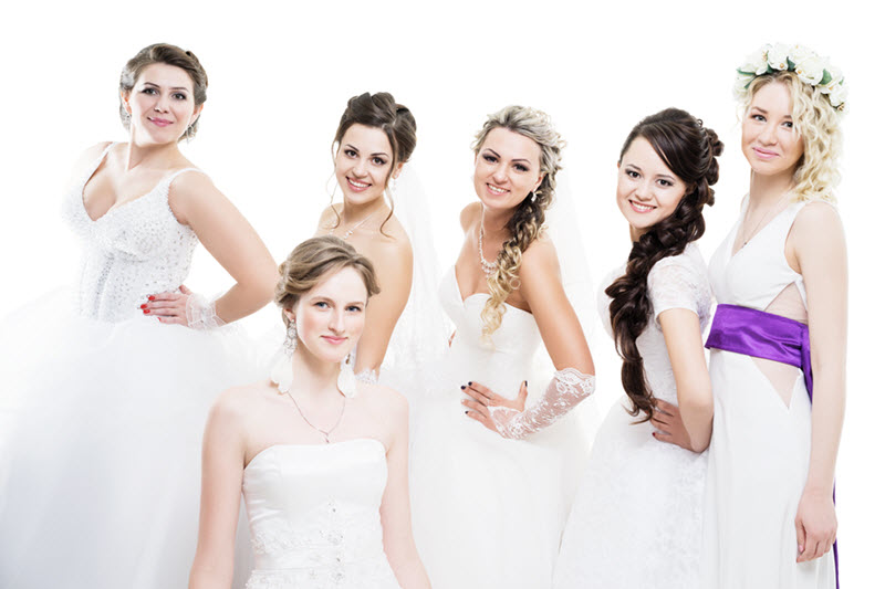 Wedding party hair feasterville